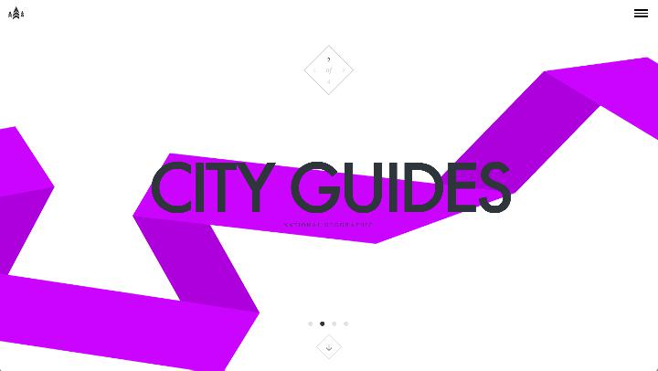 kreativní webdesign city guides national geographic